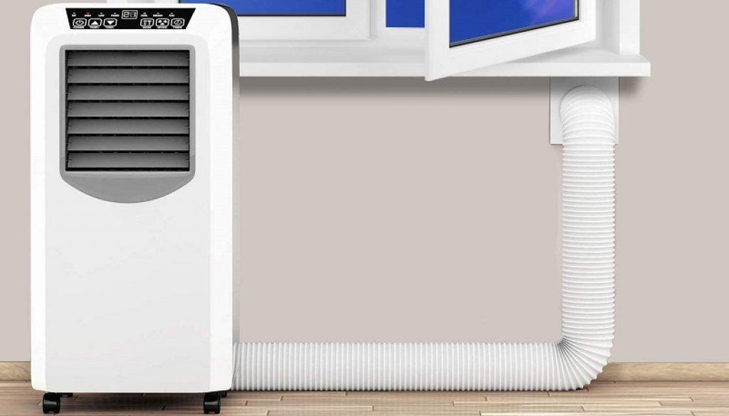 évacuer l'air chaud climatiseur mobile